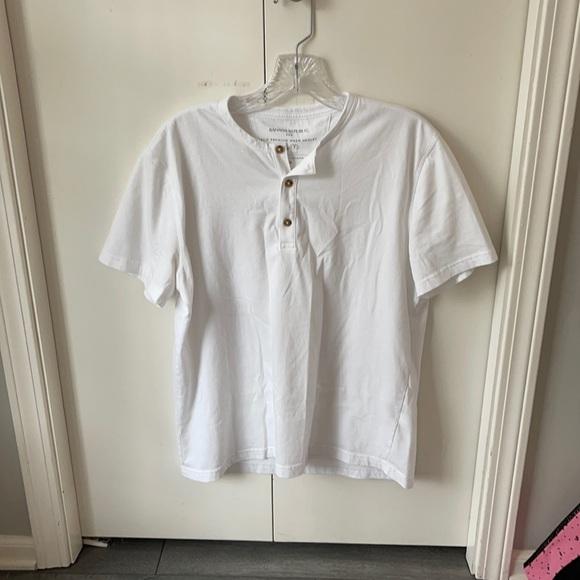 Banana Republic Eco- Premium Wash Henley Tshirt